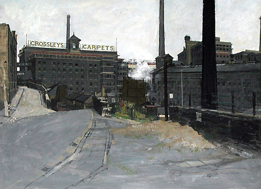 Carpet Factory 1957 - painting by Christopher Chamberlain