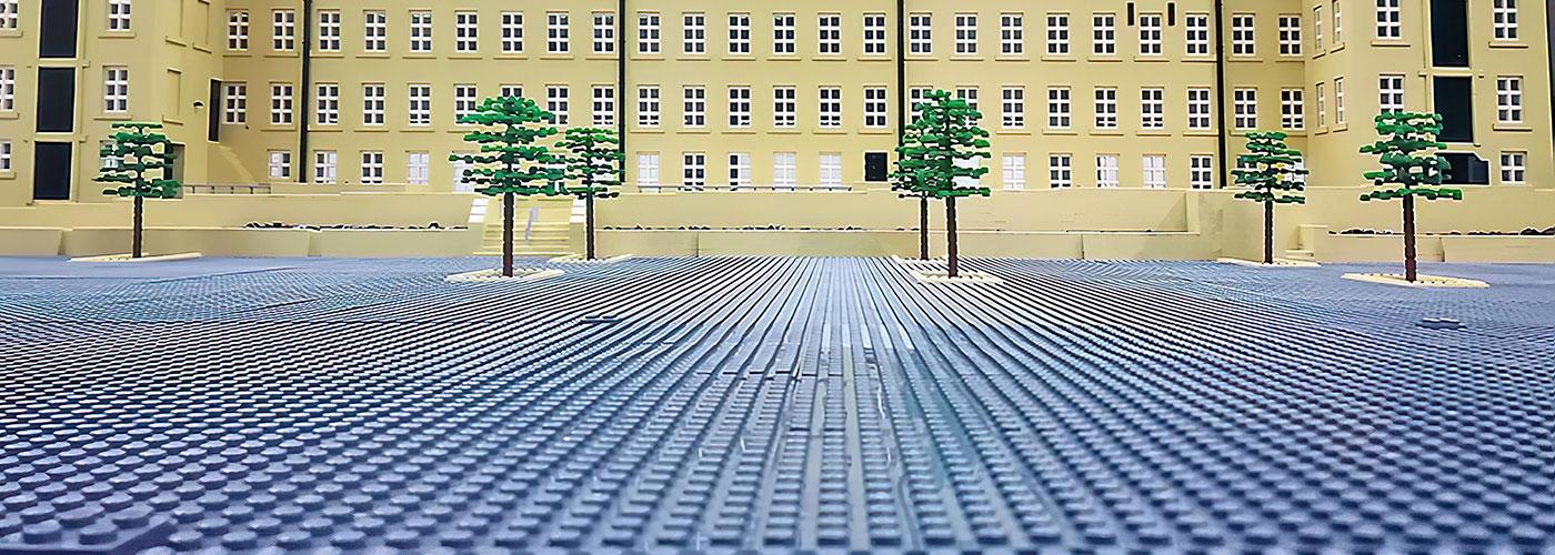 Dean Clough Lego Model, Halifax, West Yorkshire, 1 million Lego bricks