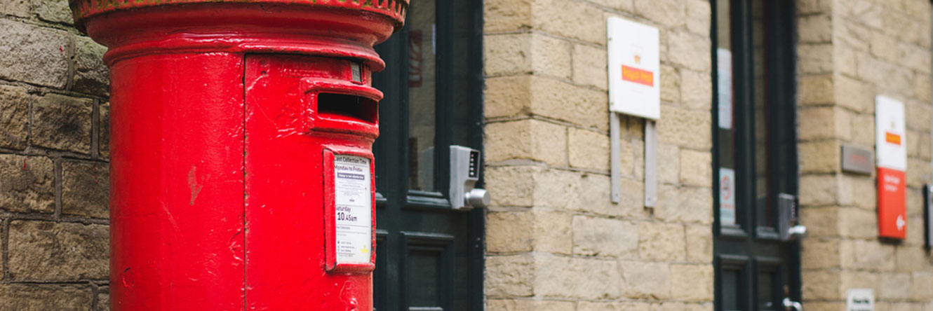 Dean Clough has an on-site Royal Mail Post Office