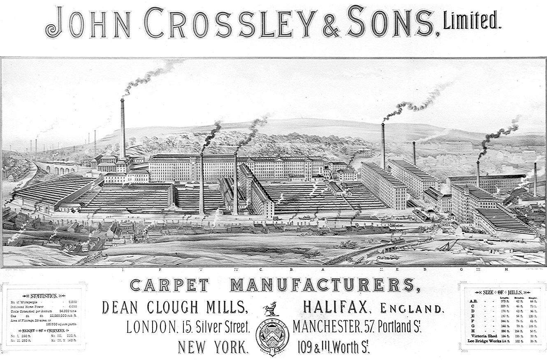 John Crossley carpets, Dean Clough Mills, Halifax