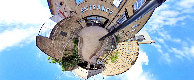 Panorama of Dean Clough Galleries, Halifax